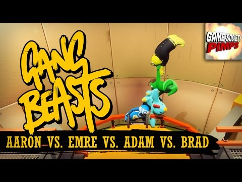 Gang Beasts - Chain of Idiots (With ALL the GameSocietyPimps) |