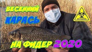 КРУПНЫЙ Карась Весной на Фидер Фидерная Рыбалка 2020 Рыбалка в Городе