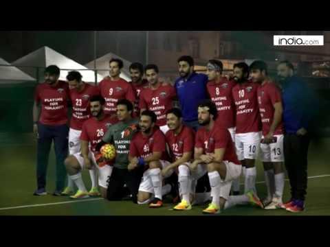 Leander Paes, Ranbir Kapoor, Abhishek Bachchan plays Football for Charity