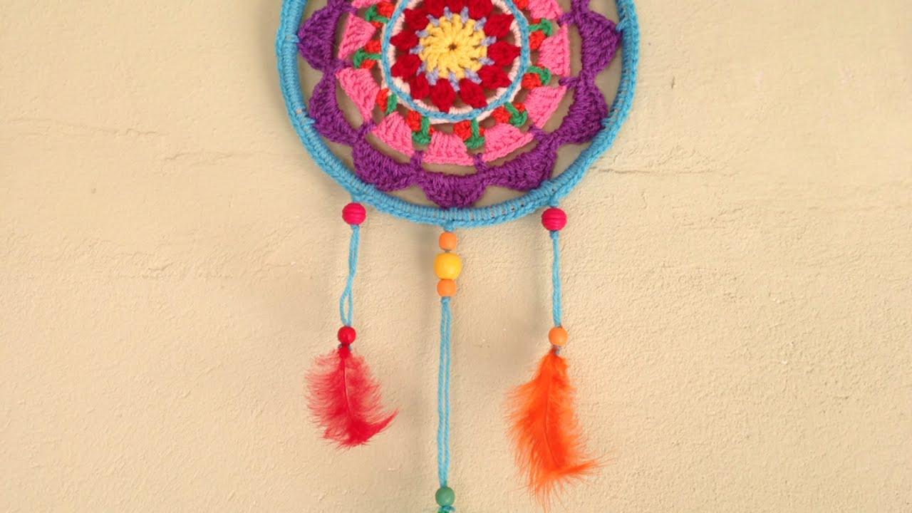 How To Make A Colorful Mandala Dreamcatcher Diy Home Tutorial
