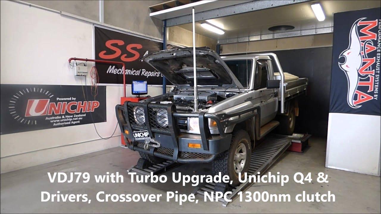 Toyota Land Cruiser Diesel >> Unichip with Turbo Upgrade Toyota Landcruiser V8 VDJ79 ...