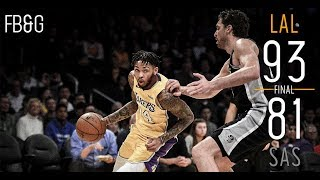 Lakers Upset Spurs, Win 3rd Straight