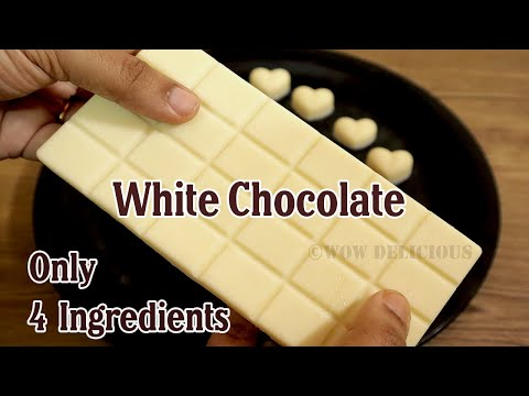 White Chocolate Recipe | Homemade White Chocolate with Only 4 Ingredients | White Chocolate Bar