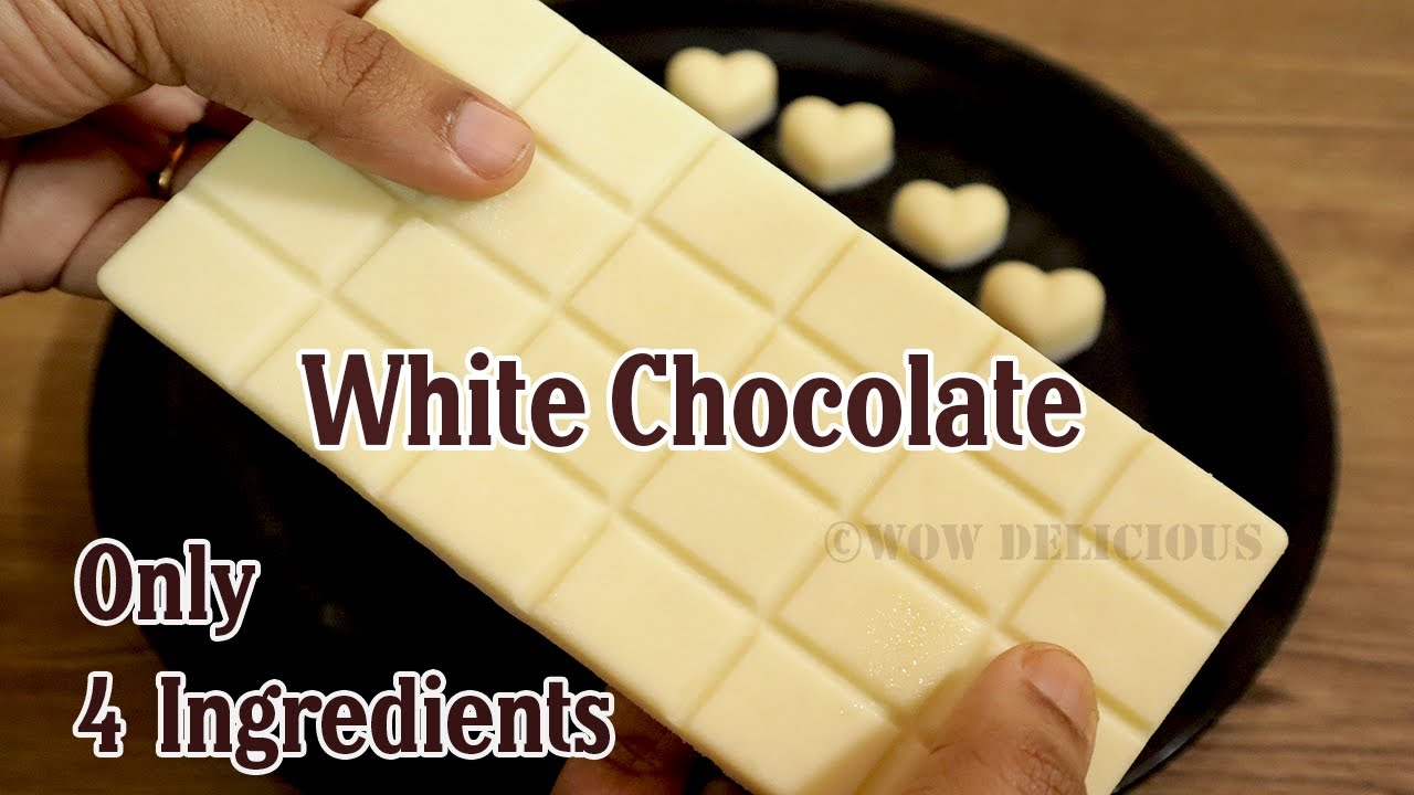 White Chocolate Recipe  Homemade White Chocolate with Only 12 Ingredients   White Chocolate Bar