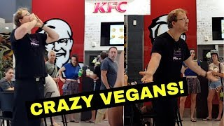 Crazy Vegans Storm Shopping Center!