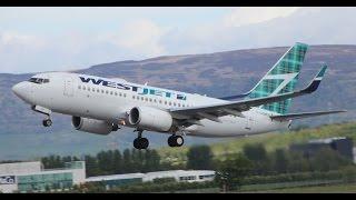 *First Flight* Westjet Boeing 737-700 | C-GQWJ | at Glasgow Airport