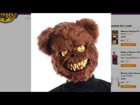 Brown Scary Teddy Bear Mask At Spirit Halloween Youtube