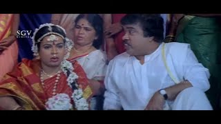 Umashree Marriage With S Narayan Comedy Scene | Sundar Raj | Kurigalu Saar Kurigalu Kannada Movie