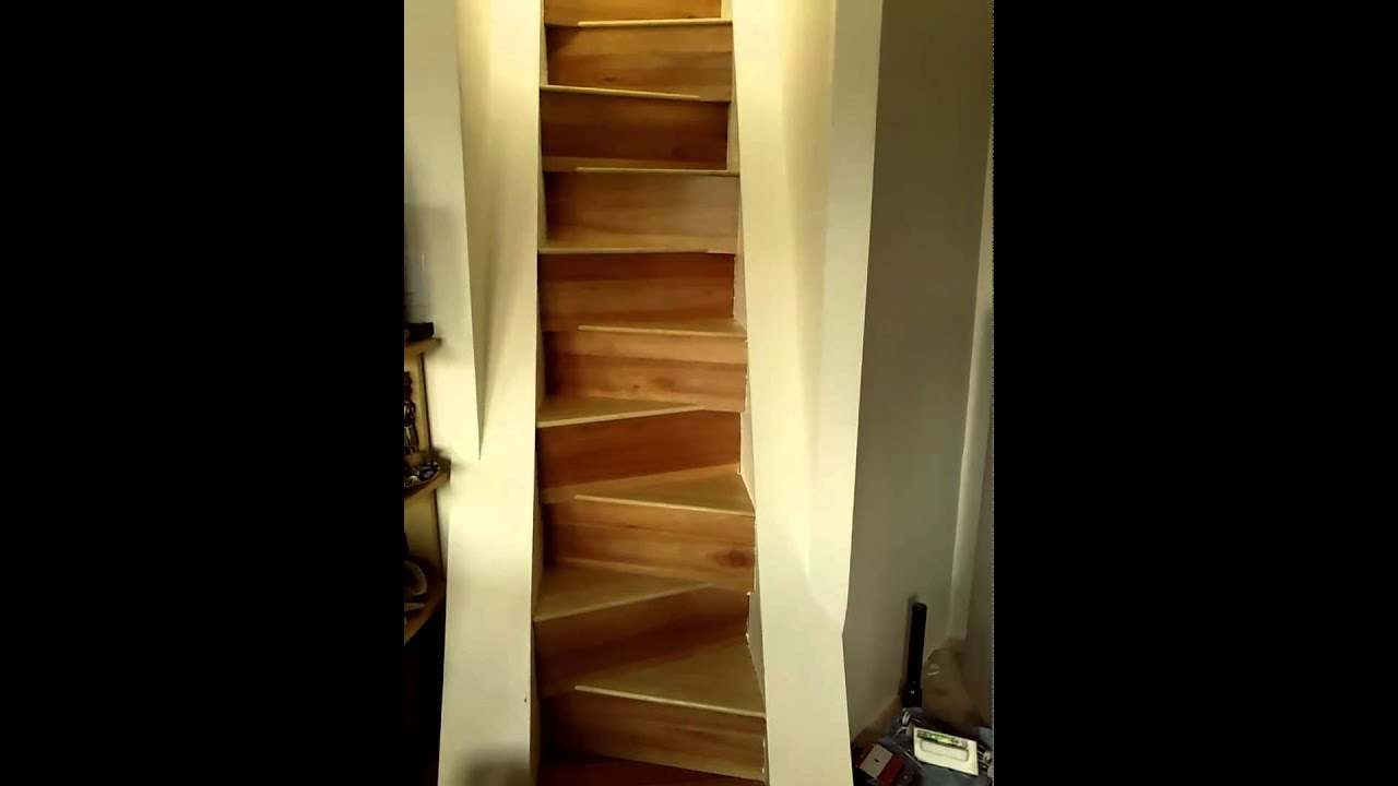 Ship Ladder Staircase With ShiftBrite Downlighting   YouTube