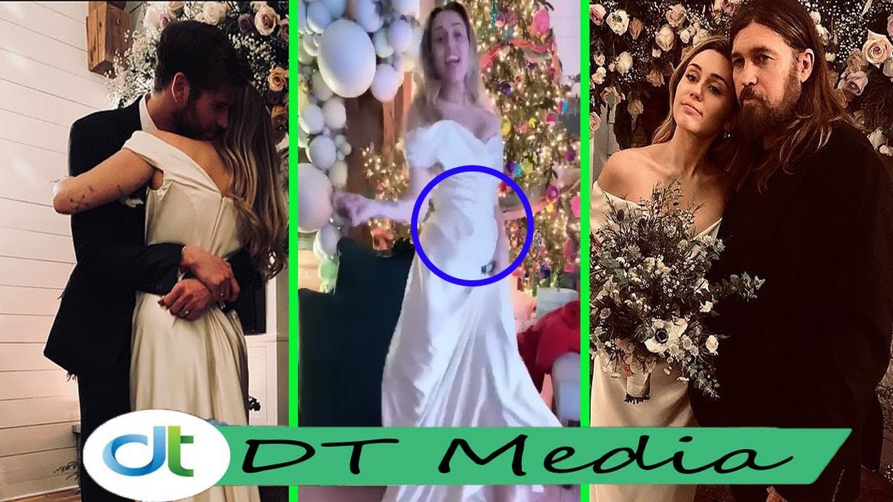 Miley Cyrus Wedding.Miley Cyrus Accidentally Revealed Belly With Husband Liam Hemsworth During The Wedding In Malibu