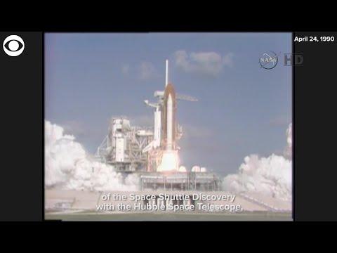 Hubble Space Telescope Launches April 24 1990