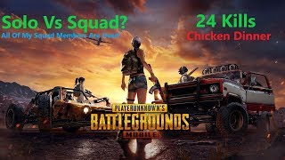 [Hindi] PUBG Mobile One Man Army | 24 Kills Chicken Dinner