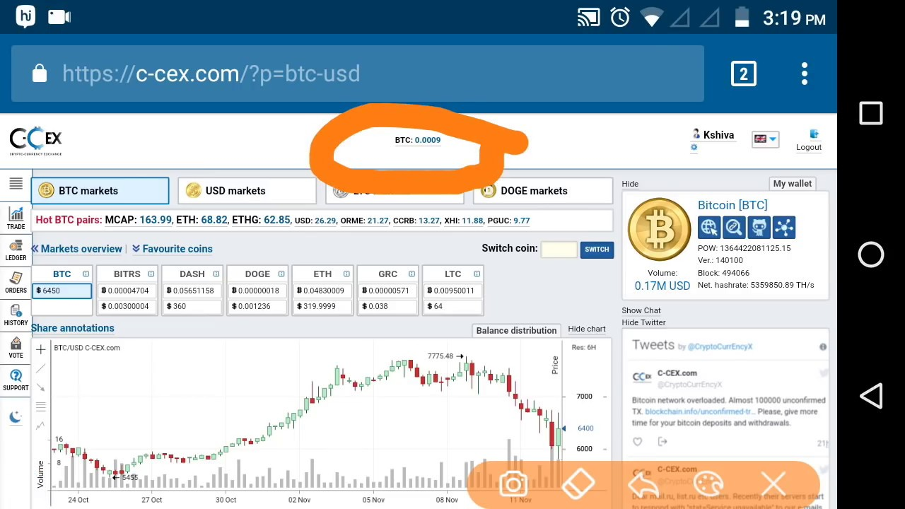 What is bitcoin trading at now