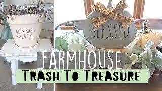 FARMHOUSE TRASH TO TREASURE | GARAGE SALE MAKEOVERS |