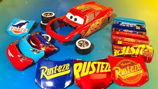 Learning Colors and numbers with Disney pixar cars change and race Fabulous Lightning mcqueen