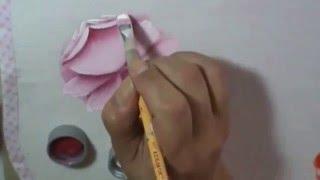 Dicas de pintura grátis – Rosa virada – Série como pintar rosas Cristina Ribeiro