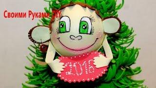 DIY Обезьянка Магнит из Фоамирана Своими Руками Fufucho Monkey