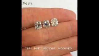 Comparing Cushion Cut Diamonds: Brilliant, Antique and Modified