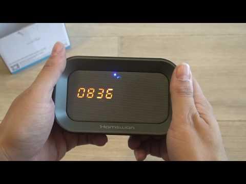 Hamswan Enceinte Portable Bluetoothmicro Sd Réveil