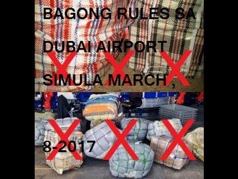 BAGONG RULES SA dubai airport SIMULA new baggage rule from march 8-2017