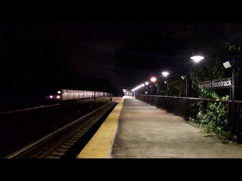 R46 (A) Train skipping Aqueduct Racetrack