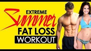 15min Extreme Summer Weight Loss Workout - Tabata - 100% Bodyweight - Sixpackfactory