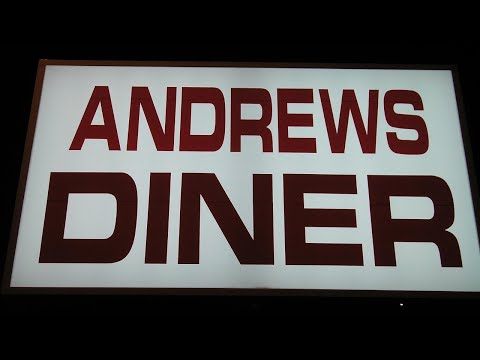 Dr Steven and JT celebrate the opening of Andrews Diner