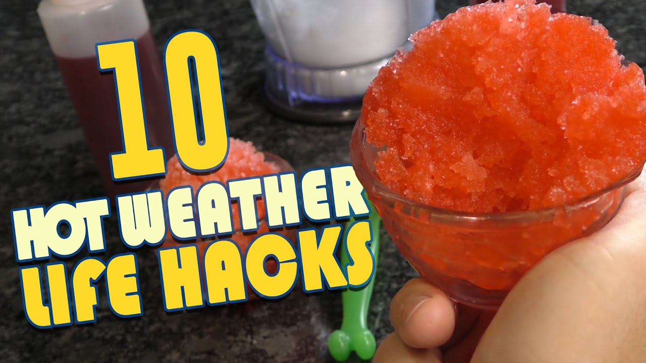 51a19375546 10 Hot Weather Life Hacks To Keep YOU Cool - YouTube