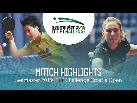 Yumeno Soma Vs Aleksandra Vovk   2019 ITTF Challenge Croatia Open (U21 1/4)