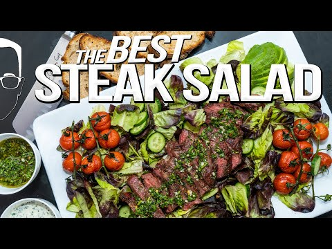 THE BEST STEAK SALAD I'VE EVER MADE | SAM THE COOKING GUY 4K