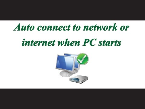 Automatically connect to the default Internet/network connection at Windows startup