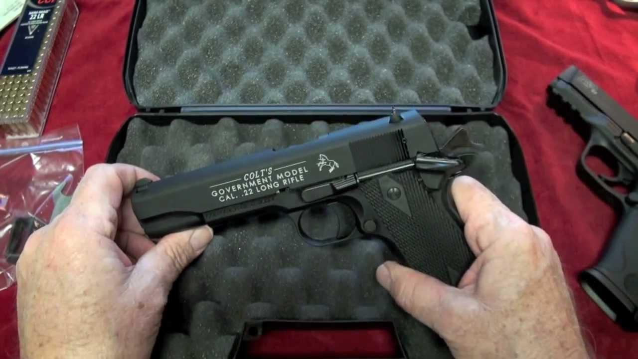 Shooting The Colt 1911 A1  22LR Pistol
