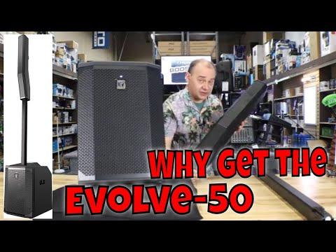 ✅Full Sound Test Electro-Voice Evolve 50 1000W Powered Column Speaker Array System, Black