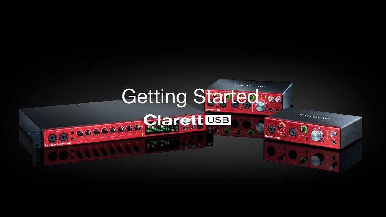 Focusrite // Clarett USB - Driver Installation