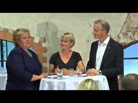 Partilederduell: Erna Solberg vs Jonas Gahr Støre