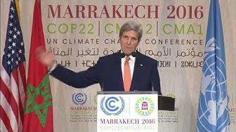 Secretary Kerry Delivers Remarks at COP-22
