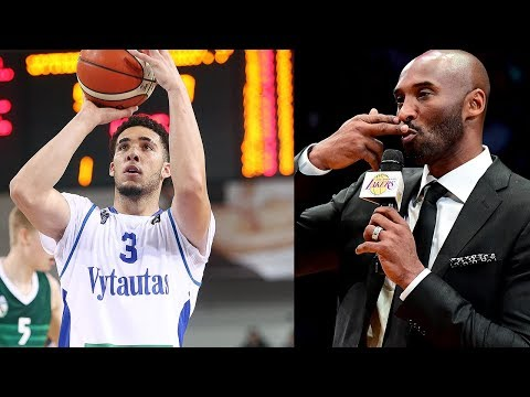 Kobe Bryant REACTS to Lakers Drafting LiAngelo Ball!