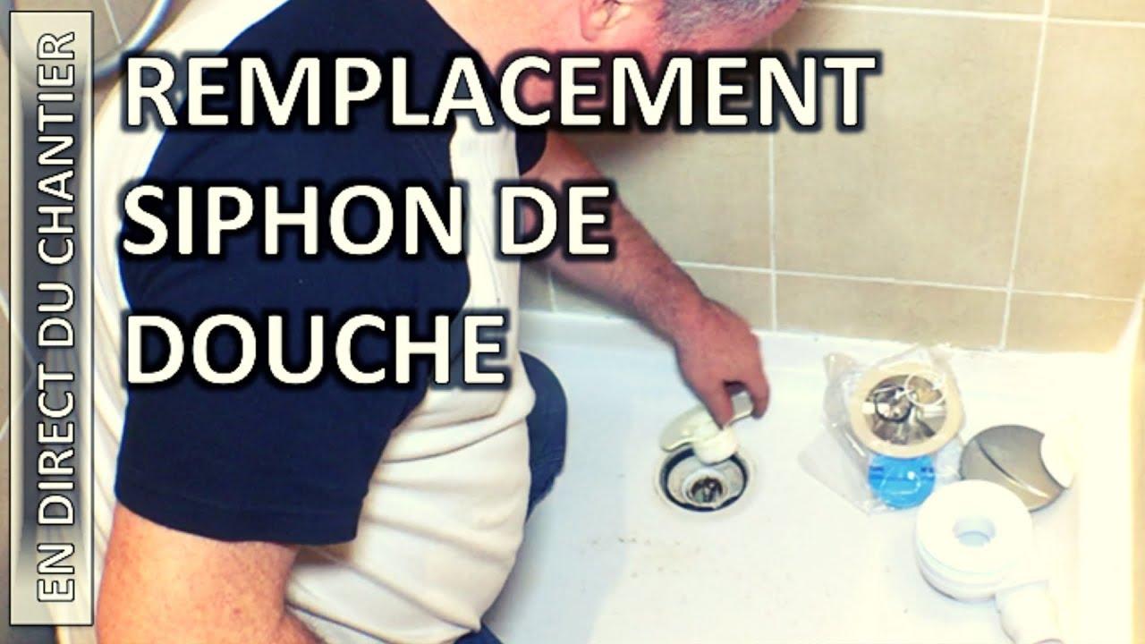 remplacement siphon de douche