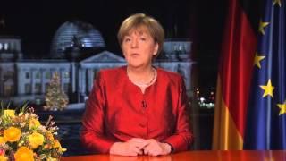 Dr. angela merkel, chancellor of the federal republic germany, new year's speech (neujahrsansprache) given december 31st, 2015. 'cc' english subtitles.