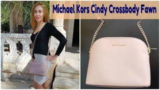 Обзор на сумку Michael Kors Cindy Crossbody, цвет Fawn