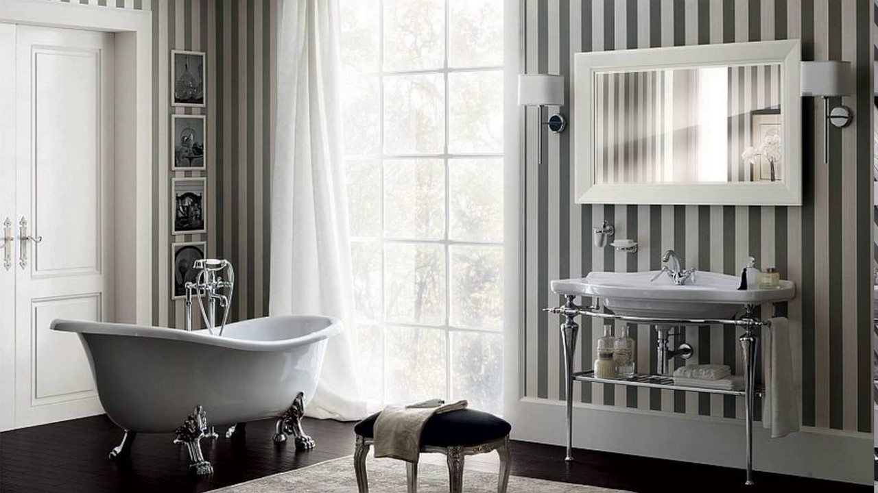 Modern art deco bathroom design - YouTube