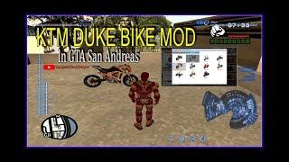 Hindi [हिंदी] GTA San Andreas Mod KTM Duke Bike How To Install KTM Duke Bike Mod In GTA.