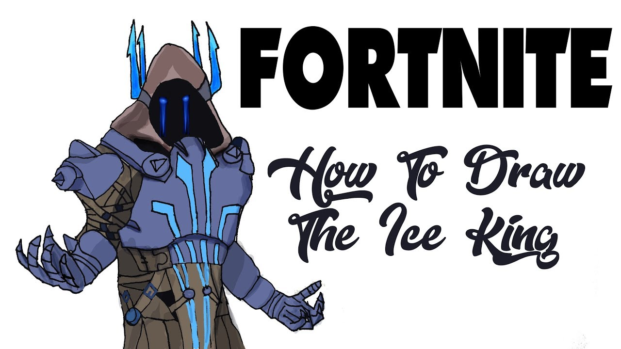 How To Draw The Ice King Fortnite Youtube