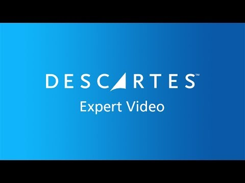 Expert Video: Descartes Global Logistics Network with Jos Nuijten