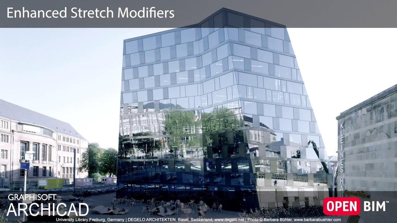 ARCHICAD 22 - Enhanced Stretch Modifiers