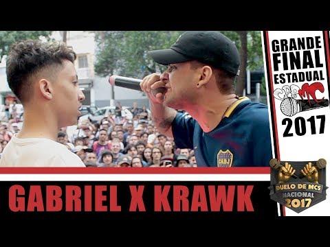 🎤GABRIEL X KRAWK | FINAL | #CPBMC2017 | SELETIVA SP DUELO DE MCS NACIONAL| CPBMC🎤