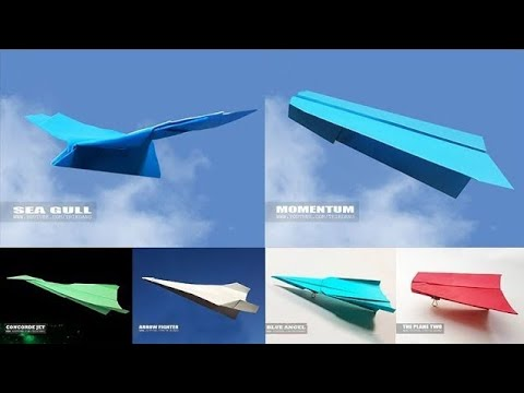 PAPER AIRPLANE TEST FLIGHTS | best paper airplanes in the world (2018)
