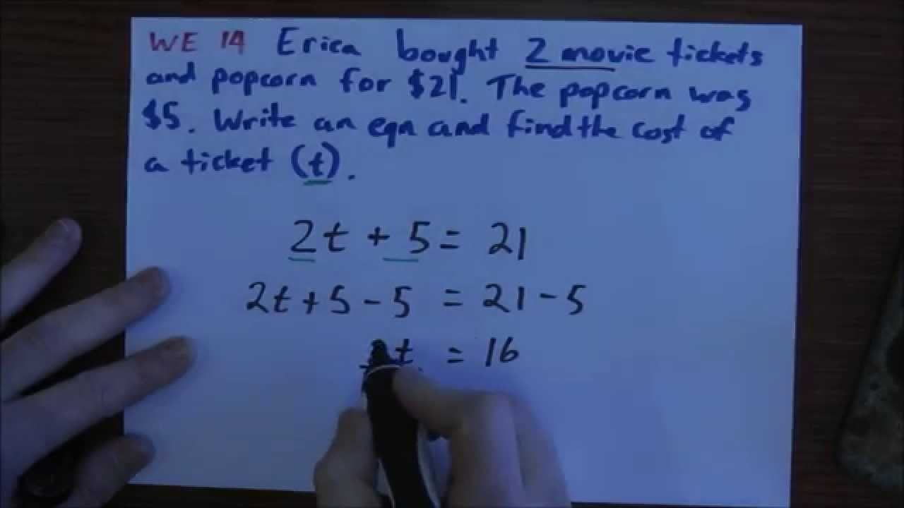 Pearson Mathematics 7 - Ch 7.5 Solving Problems with Equations - YouTube