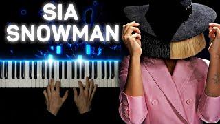 Sia - Snowman | Piano cover видео