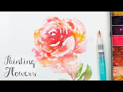 [LVL5] New Brush Kuretake Waterbrush Painting Technique